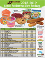 2018-2019 School Foodservice New Item Sell Sheet