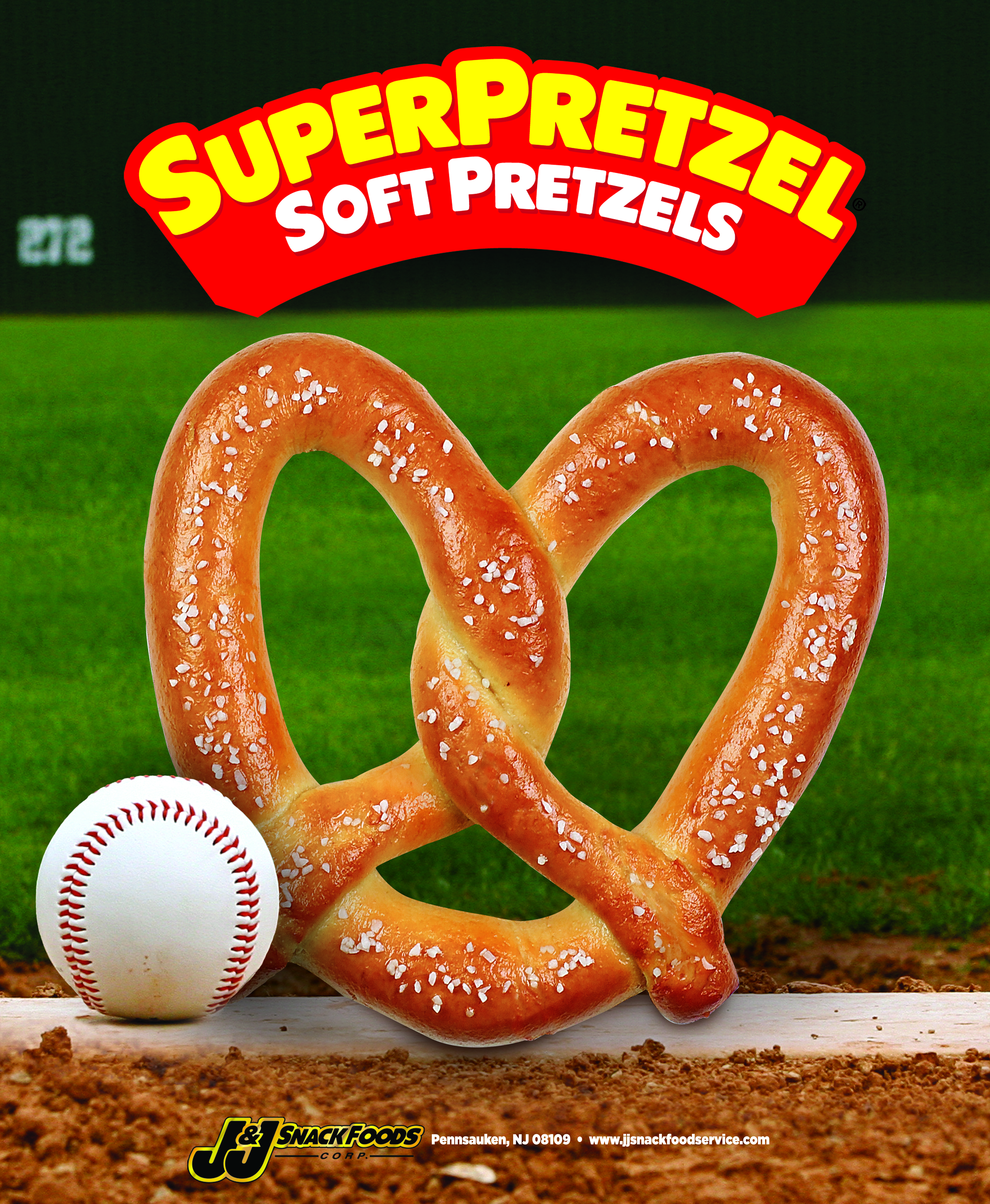 SUPERPRETZEL® Soft Pretzel King Size Baseball Themed Poster