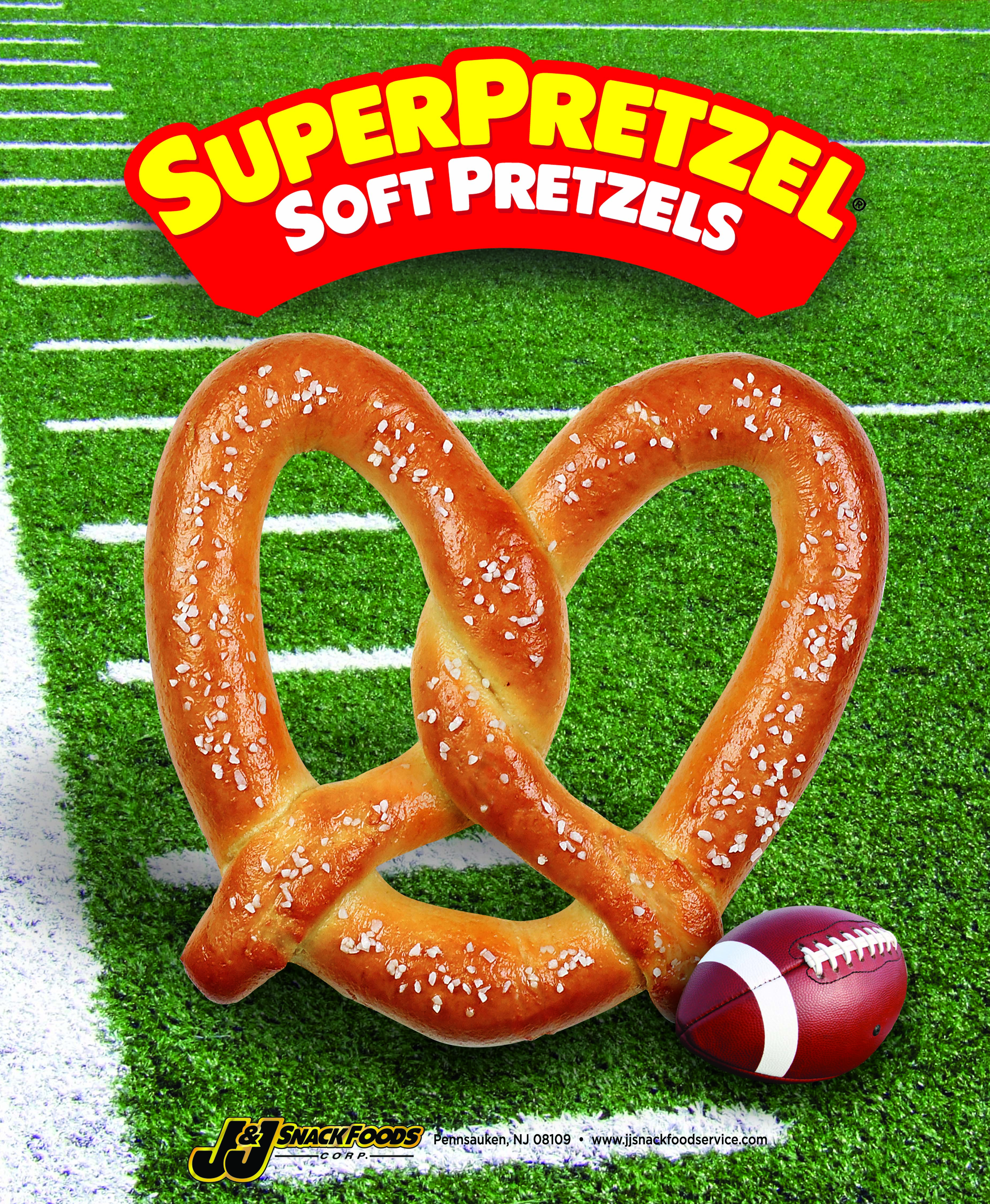 SUPERPRETZEL® Soft Pretzel King Size Football Themed Poster