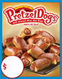 SUPERPRETZEL PRETZELDOGS Price Sign