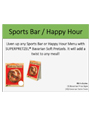 Sports Bar Happy Hour Merchandising Kit